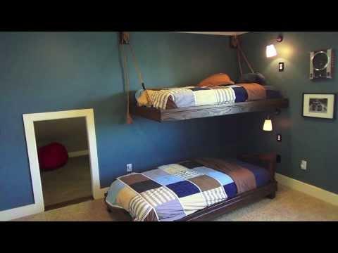 Hanging Nautical Bunk Beds - Boys Bedroom Theme Ideas