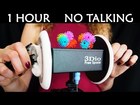 1 Hour No Talking ASMR For Sleep – Ear Cleaning Sounds, Brushes, Bunchems, Mascara Wands