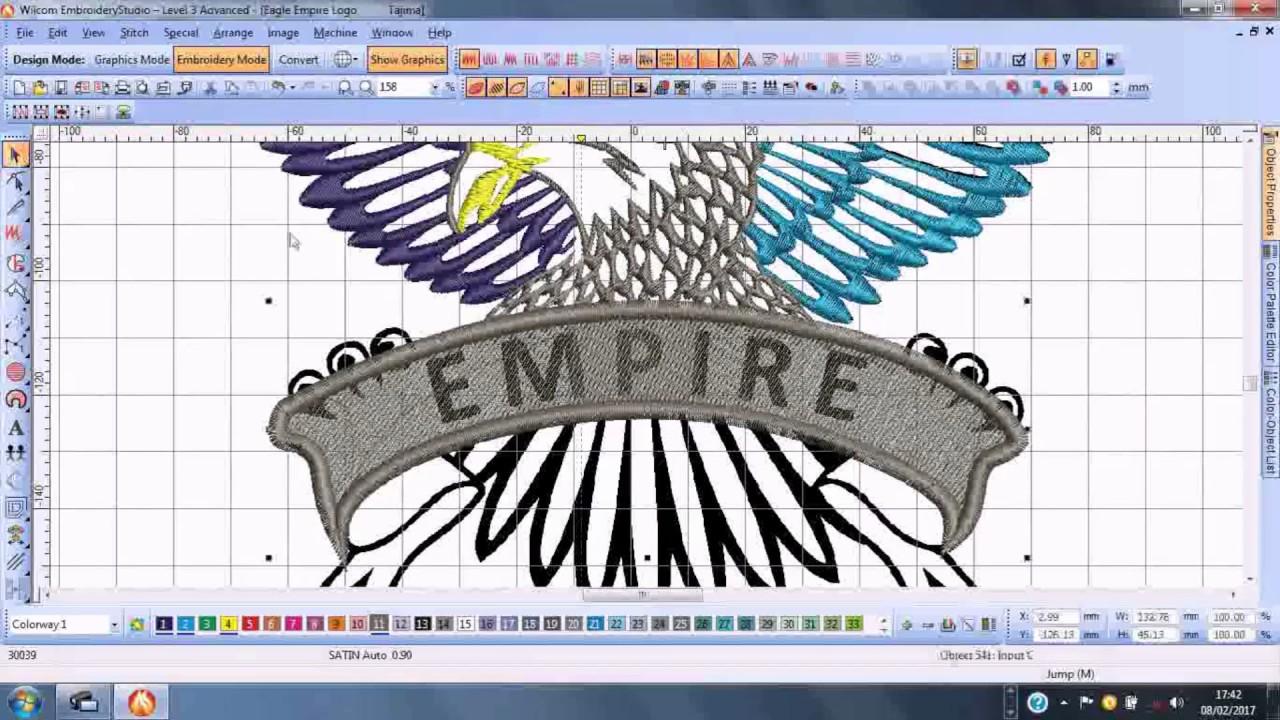 Embroidery Design In Wilcom Studio Eagle Graphic Studio Imperia