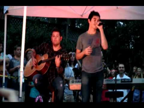 Something 'Bout Love by David Archuleta (1st Live Performance) Greenville, SC