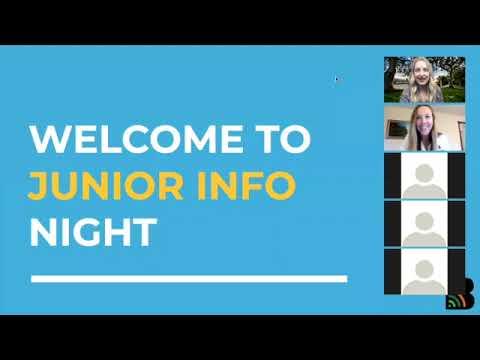 Junior Info Night Webinar
