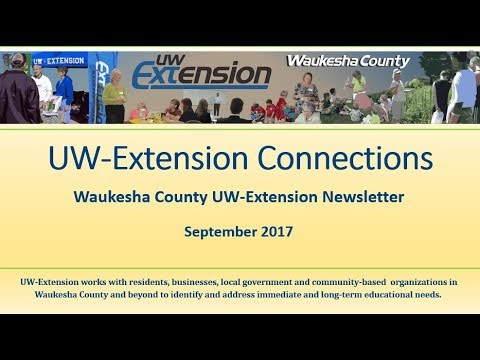 UW Extension Connections 0917 Video