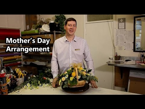 Mother's Day Trug Basket Arrangement - With Mixed Flowers -