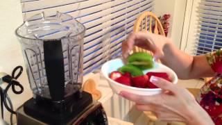 How To Make Strawberry Kiwi Smoothie - Vitamix Blender 750