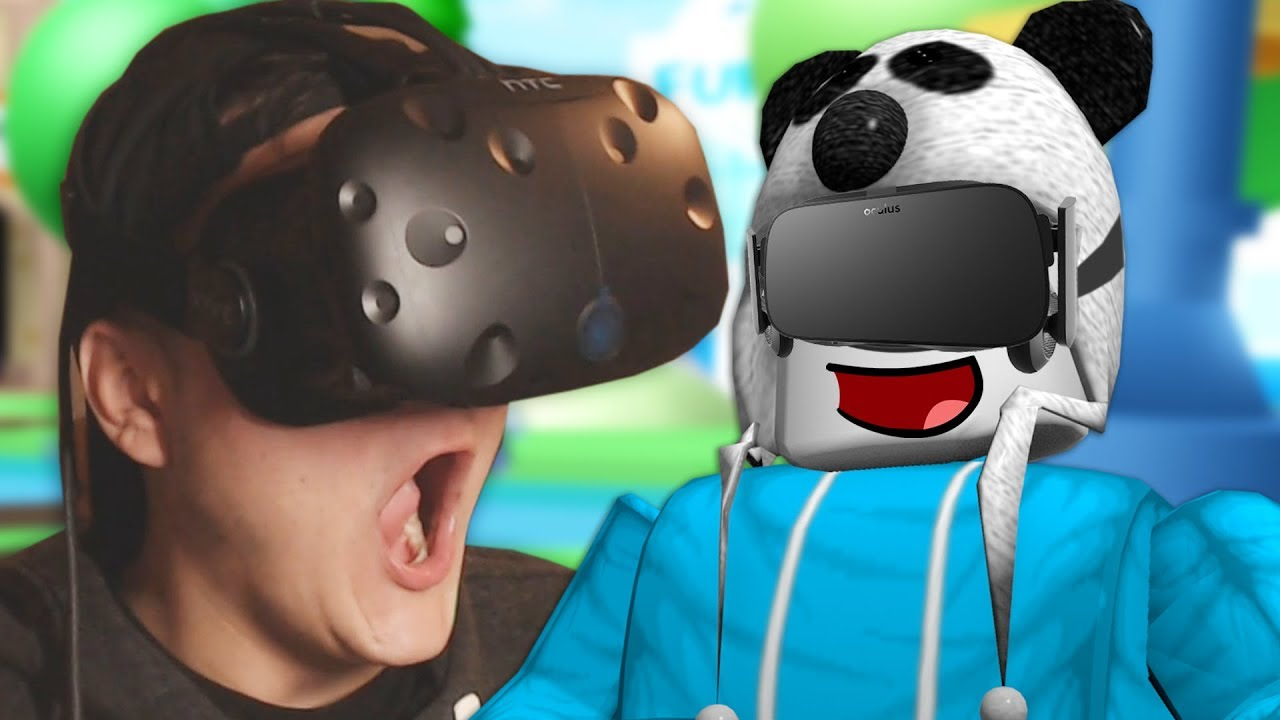 Playing Roblox In Vr Htc Vive Virtual Reality Youtube