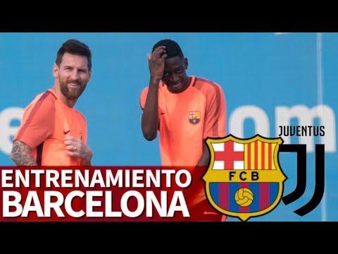 Barcelona-Juventus | Entrenamiento previa al partido de Champions | Diario AS