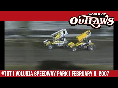#ThrowbackThursday: World of Outlaws Craftsman Sprint Cars Volusia Speedway Park February 9, 2007