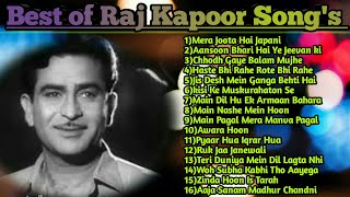 Best Of Raj Kapoor Song's|Old Mp3 Songs|Evergreen Hit Songs|
