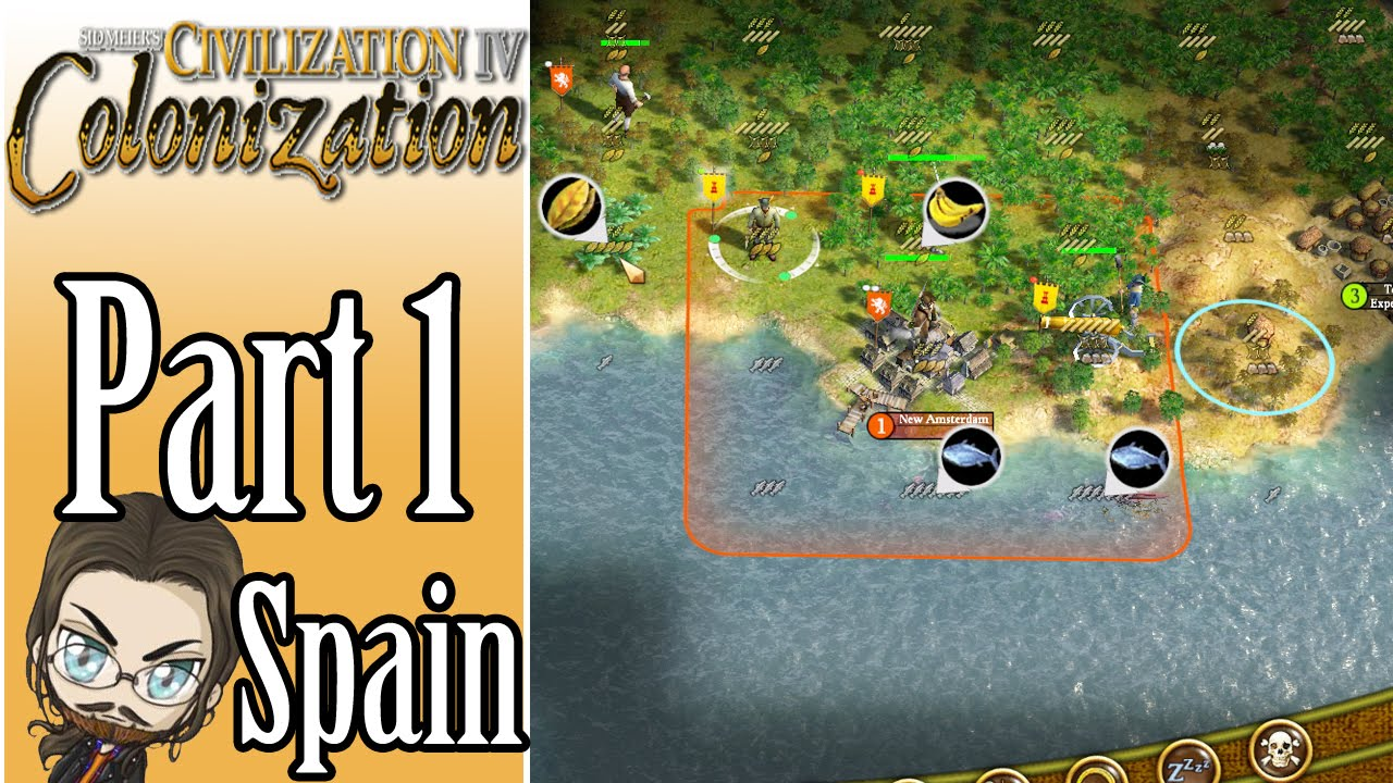 Civilization 4 Colonization Walkthrough as Spain! - Part 1 - Let's Play Gameplay