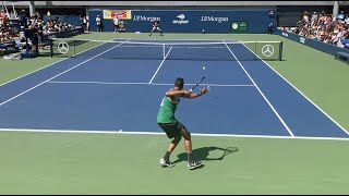 Nick Kyrgios Training US Open 2019 Court Level View