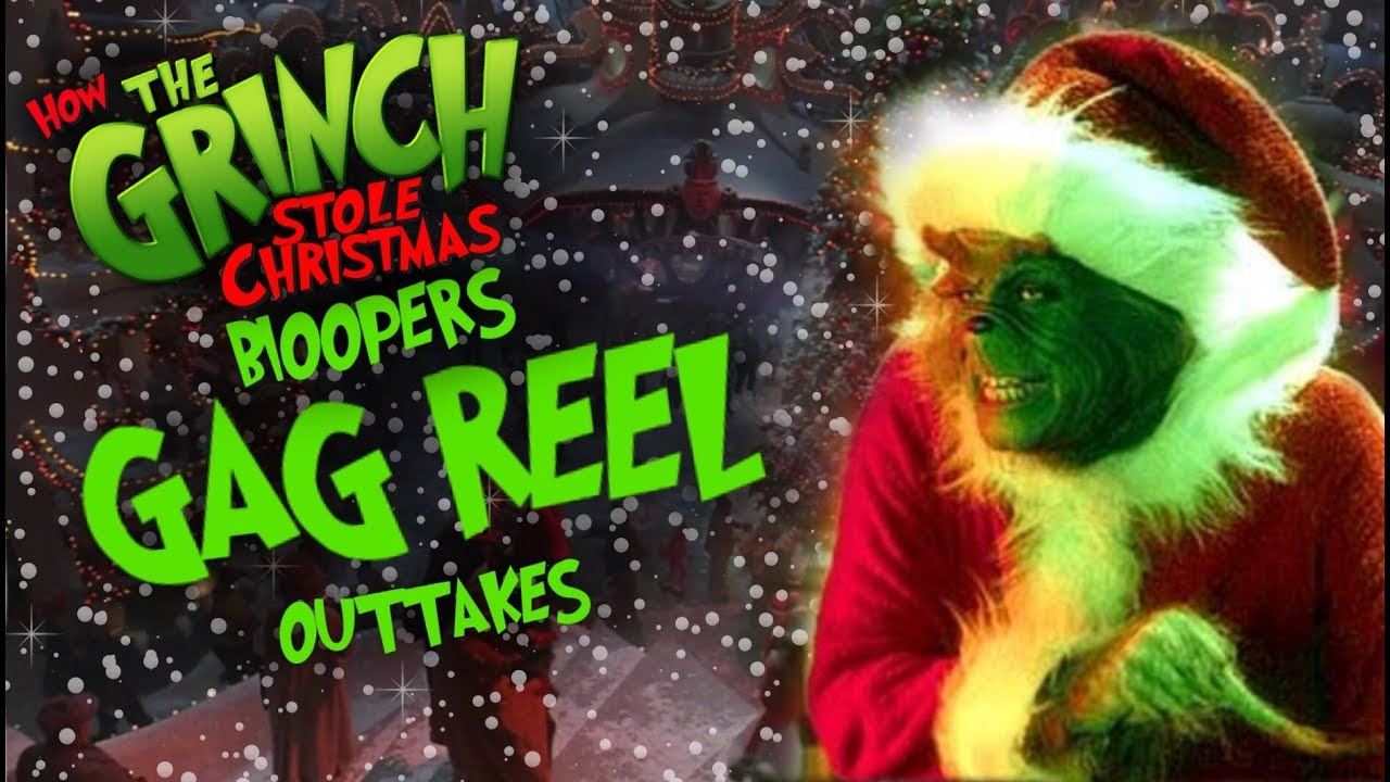 how the grinch stole christmas 2000 movie bloopersgag reelouttakes - Youtube How The Grinch Stole Christmas
