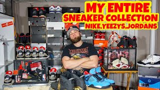 MY ENTIRE SNEAKER COLLECTION MOST UNDERRATED OGJORDANS,NIKE,YEEZYS (25,000)