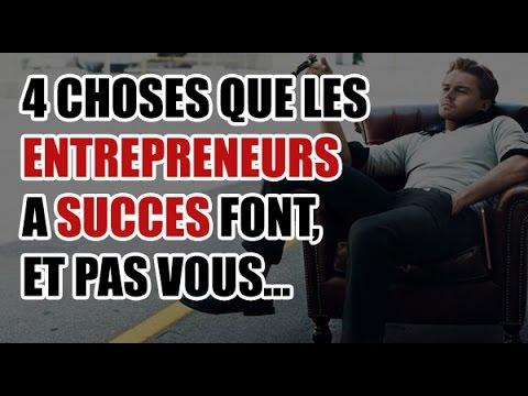 4 choses que font les entrepreneurs qui réussissent différemment (vous passez à côté)