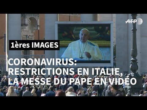 Coronavirus: le pape François fait sa prière dominicale en vidéo | AFP Images