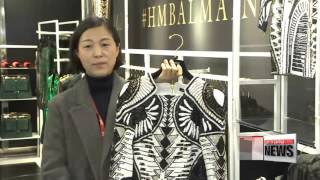 Korean shoppers pull up camp as Balmain and H&M collaboration hits Seoul   일주일 노