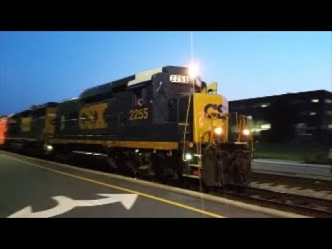 [CSXT]2255 EMD ROAD SLUG & 6931 EMD GP40-2 Leads S736-26 Back From Parkton NC With 1st Gen K5LA