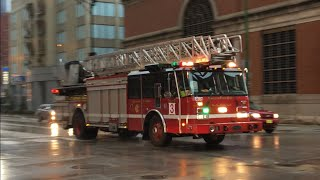 Chicago IL Fire Department Engine Co. 42 And Truck Co. 3 (Spare) Responding