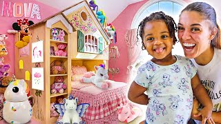 SURPRISING OUR 2 YEAR OLD DAUGHTER NOVA WITH AN EXTREME ROOM MAKEOVER **CRAZY RESULTS**