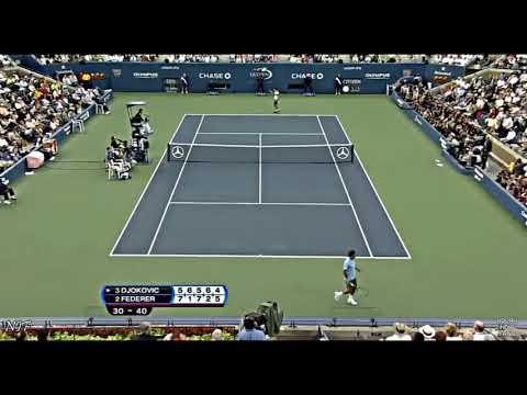 Djokovic saving match points vs Federer compilation