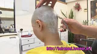 『Hair Angel Vol 86』(woman head shave) SAMPLE