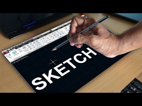 autocad-sketch-command-|-autocad-free-hand-sketching