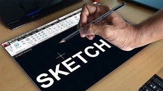 Autocad Sketch Command | Autocad Free Hand Sketching