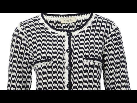 Мастер-класс узора  для жакета в стиле Шанель ❤ Crochet Pattern. Strickmuster.