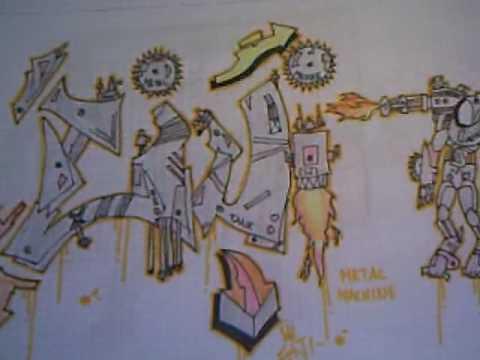 Graffitis en papel eiji youtube - Graffitis en papel ...