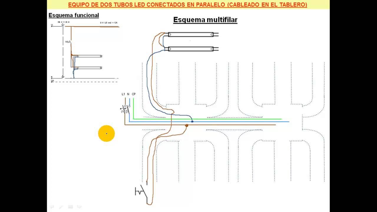Circuito Tubo Led : Practica tubos led en paralelo youtube