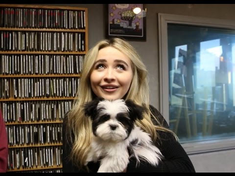 Thumbnail: We make Sabrina Carpenter hold a PUPPY during our interview....