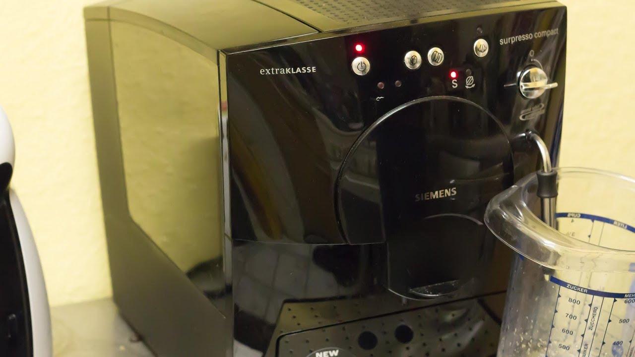*HD* Siemens Surpresso Compact reinigen und entkalken - YouTube