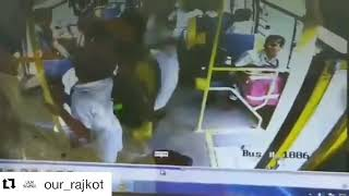 A viral video of DPS school bus of Rajkot came on surface in which a student kicks other studen