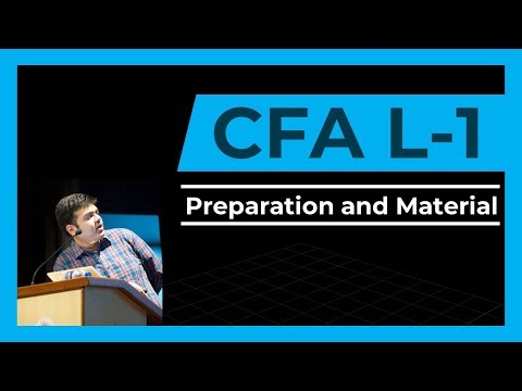 CFA Level 1- 1st Class | How To Begin Preparation | Material