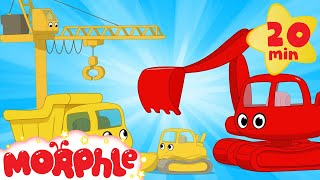 Download My Magic Living Construction Vehicles!  Morphle Excavator, Bulldozer, Dump Truck and Crane videos Mp3 and Videos