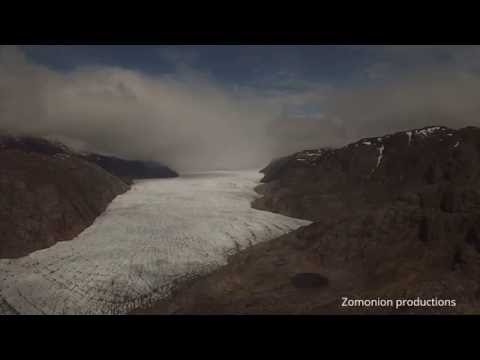Drone footage Greenland ice sheet