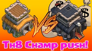 Clash Of Clans - TH8 Vs TH9 (Bam To Champs!!)