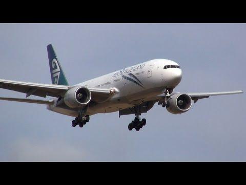 Air New Zealand ► Boeing 777-200ER ► Landing ✈ Auckland Airport