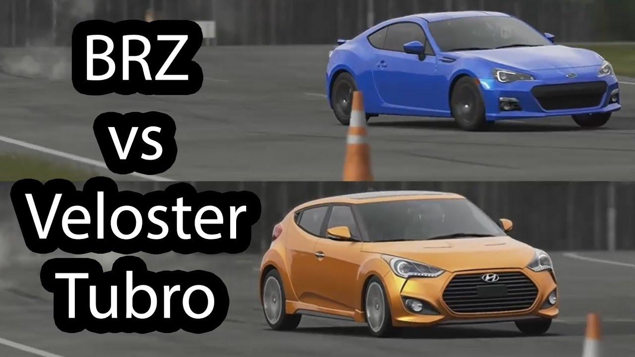 Subaru Brz Vs Hyundai Veloster Turbo Top Gear Youtube