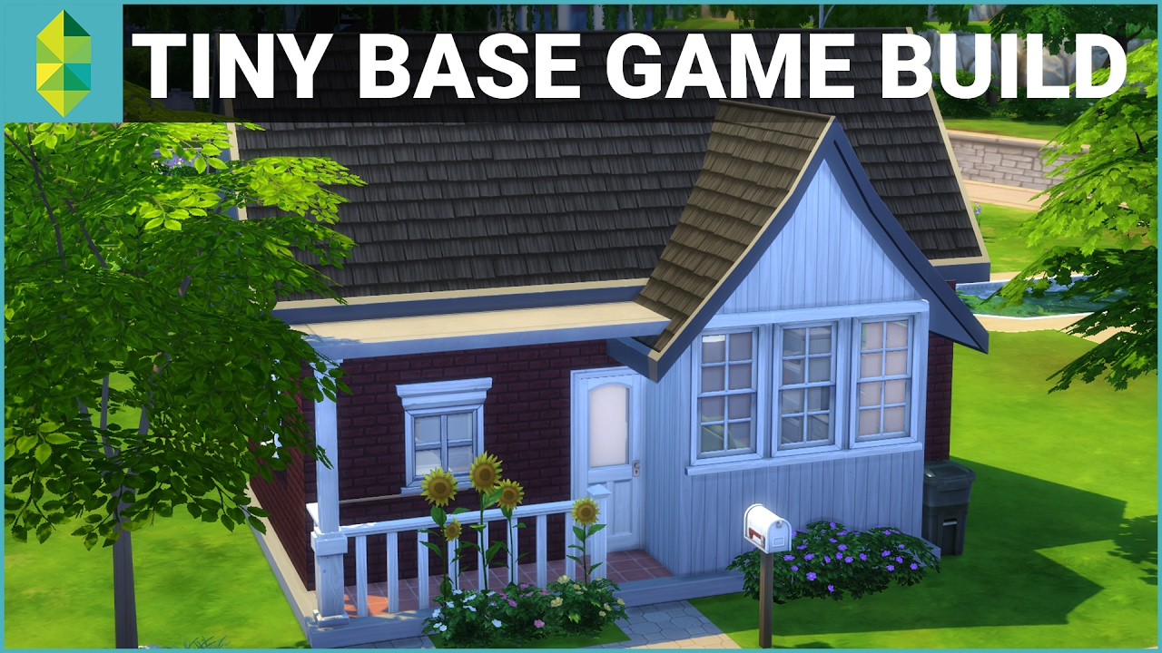The Sims 4 House Building   Tiny Base Game $10K Budget