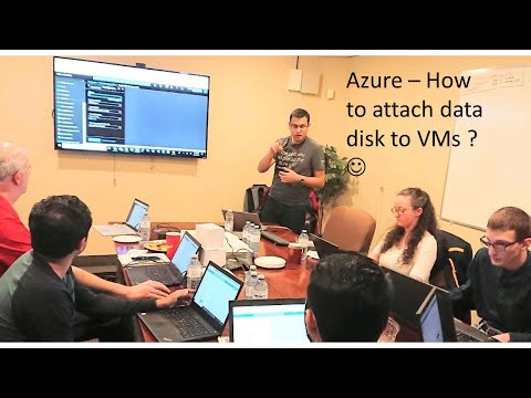 Azure - How to Attach Data Disk to VMs in Azure?