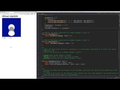 3D Virtual Joystick With P5.js