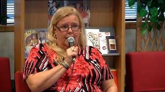 Tuija Lehtinen kirjailijavieraana Sellon kirjastossa 13.4. 2010