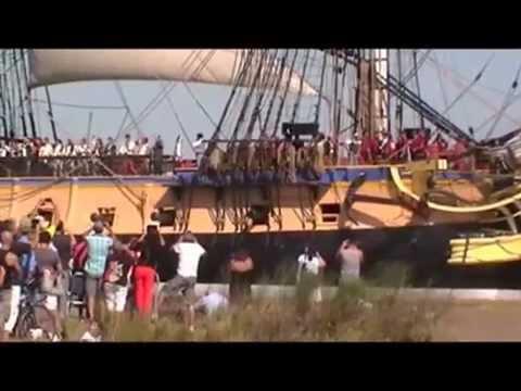 L'Hermione -  Départ de Rochefort vers l'Ile d'Aix le 070914