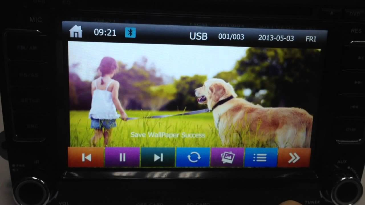 how to set wallpaper for your car dvd player gps radio from sd or usb [ 1280 x 720 Pixel ]