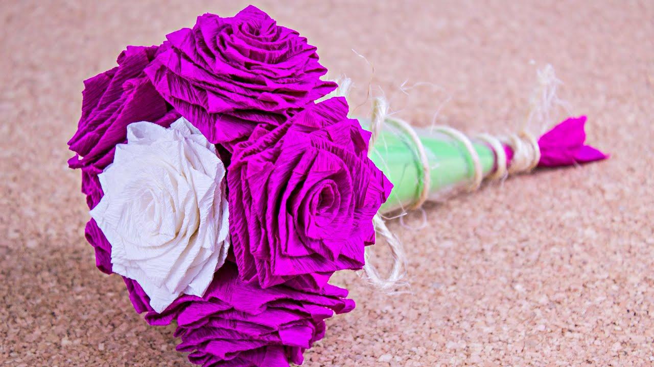 Como hacer un ramo de rosas sanvalentindepapel - Como hacer ramos de flores ...