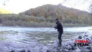 Ловля форели в горной реке (Малая Лаба)