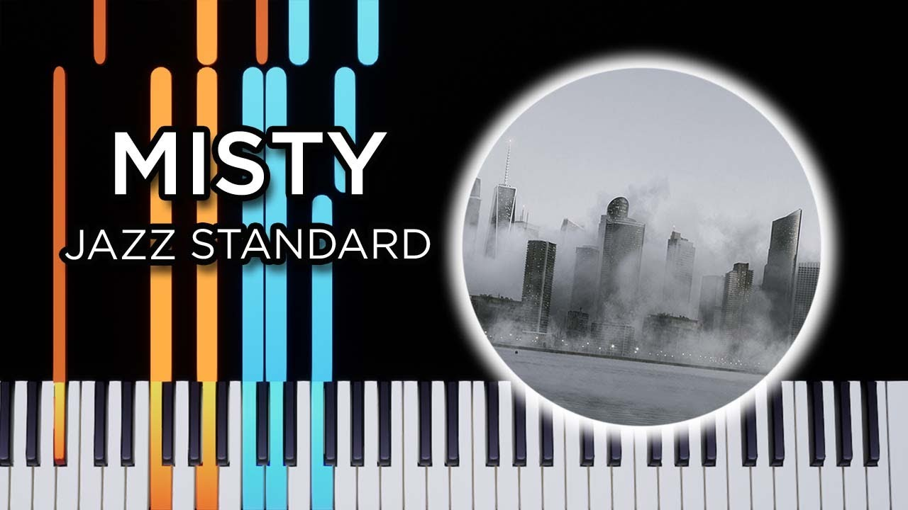 Misty Jazz Piano Solo Synthesia Tutorial Youtube