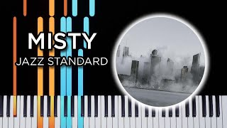 Misty - jazz piano solo Synthesia tutorial