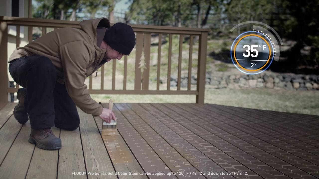 flood pro series solid color wood stain youtube