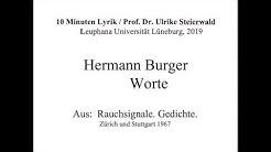 Hermann Burger: Worte | 10 Minuten Lyrik | Ulrike Steierwald